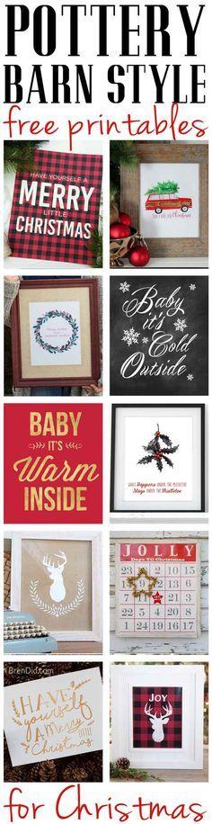 Last Minute Holiday Printables