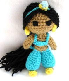 Princess Jasmine Doll - Free Amigurumi Pattern here: http://philaeartes.wordpress.com/2013/03/06/princesa-jasmine-princess-jasmine/