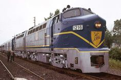 Delaware and Hudson Baldwin 'Shark' Diesel Locomotives.