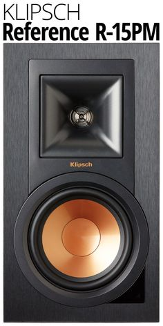 Check out the Klipsch Reference R-15PM powered bookshelf speakers. With 50 watts per channel and tried-and-true Klipsch speaker technology, these compact monitors can deliver room-filling sound that's richly detailed. And they're ready to handle just about any source you can imagine, thanks to built-in Bluetooth, an on-board phono preamp for your turntable, and versatile digital inputs.