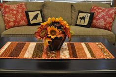 Easy Fall Table Runner
