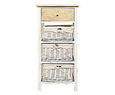 Mobiletto 4 cassetti in legno di paulownia, 40x80x29 cm