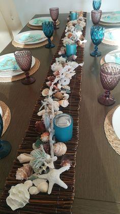 Seashell Crafts, Beach Crafts, Deco Table, Mermaid Birthday, Decoration Table, Beach House Decor, Beach Party, Beach Themes, Coastal Decor