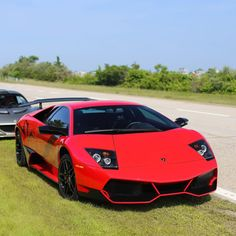 Lamborghini Murcielago Super Veloce painted in Rosso Andromeda   Photo taken by: @nyexoticcars on Instagram