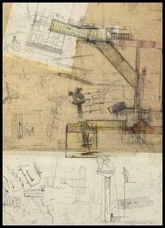 Clásicos de Arquitectura: Restauración del Museo de Castelvecchio en Verona,Dibujo Original