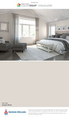 I found this color with ColorSnap® Visualizer for iPhone by Sherwin-Williams: Simple White (SW 7021).