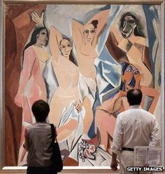 Les Demoiselles hanging in the Museum of Modern Art in New York. From article: Too Famous to see? BBC