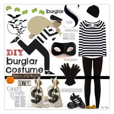 """DIY Halloween Costume"" by mcheffer ❤ liked on Polyvore featuring Masquerade, adidas, Volcom, Johnstons, Dot & Bo, 81hours and diycostume"