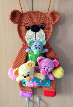 Teddy Bear Organizer & 'Patches' teddies - One and Two Company Crochet patterns