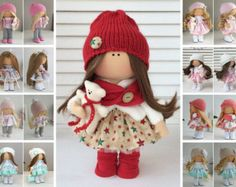 Portrait dolls Couple dolls Rag doll Bambole por AnnKirillartPlace