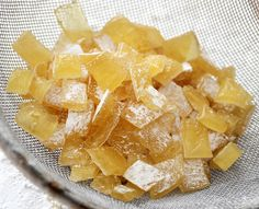 Homemade Ginger Chews...real ginger helps motion sickness among other things. Love this
