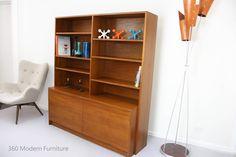 Mid Century Sideboard Shelving Bookcase Wall Unit Retro Vintage Danish Scandi Er in Home & Garden, Furniture, Sideboards, Buffets & Trolleys   eBay 360 Modern Furniture