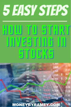 Learn the 5 Easy Steps on How to Start Investing in Stocks today! Click the photo to learn how. #ideas #investing #stocks #dividend #finance #financialplanning #financialfreedom #money #moneymanagement #tips #howto #investments #financial #makemoney Investing In Stocks, Investing Money, Finance Tips, Finance Blog, Financial Goals, Financial Planning, Money Saving Tips, Money Tips, Thing 1
