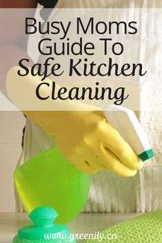 Do you know if the cleaning products you use are safe for your family?  Make sure they are with this FREE Quick Guide to Safe Kitchen Cleaners!