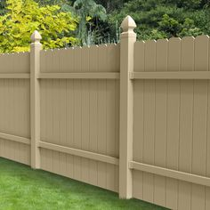 Shop Barrette Select Desert Sand Dog-Ear Privacy Vinyl Fence Panel (Common: 72-in x 6-ft; Actual: 70-in x 5.7-ft) at Lowes.com
