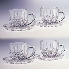 Opentip.com: Godinger 028199001332 Shannon 4 Cups and Saucers