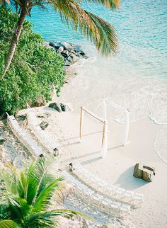 Brides: Virgin Islands Real Wedding Photos: An Intimate Destination Wedding on a Private Beach in St. Thomas