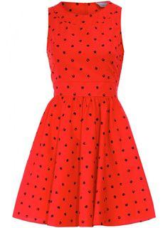 Red polka dot.