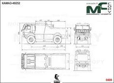 KAMAZ-49252 Dakar  - disegno - Model COPY Autocad, Adobe Illustrator, 2d, Photoshop, Trucks, Drawings, Model
