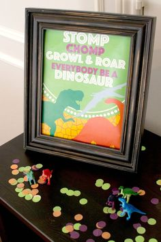 Create a party for the history books with our FREE printable included in your Dinosaur party pack. The bright colors and fun Dino pattern decor is  ready to add a prehistoric flair to your Dino-mite party!