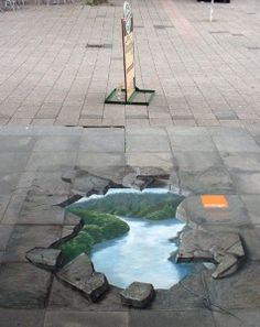 chalk drawing - I've seen a few photos of these drawings and think they are amazing