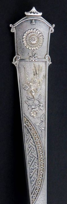 Shreve /& Co Bead Sterling Silver Salt Spoon Gold Wash No Mono 1 One