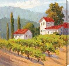Karen Wilkerson - Glorious Estate II #winery #tuscany #art #landscape