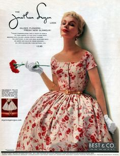 jonathan logan floral party dress full skirt red white color photo model I  don t want to even think how that waist was arrived at! f7af002206