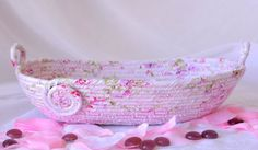 I handmade this pretty Shabby Chic Basket ....Handmade by me... Lovely Pink Moses Basket by WexfordTreasures