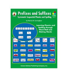 Facilitate fun and functional phonics instruction using Prefixes and Suffixes for grades 3 and up. This 192-page resource features hands-on, minds-on manipulative activities in which students learn to decode words and properly use common prefixes, suffixes, and spelling changes. The book supports the Four-Blocks® Literacy Model and includes 120 dynamic lessons that encourage students to learn phonics and spelling through the Word Wall and Making Words activities. This book also includes…
