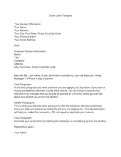 form letters google search - Cover Letter Outline