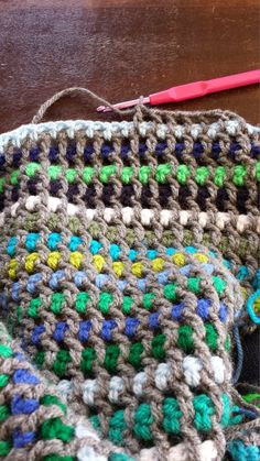 Pattern braid stitch blanket.