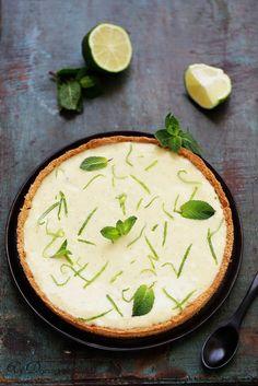 Tarte au citron vert - Un déjeuner de soleil