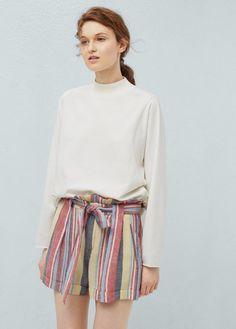 Pin for Later: 13 perfekte Shorts für den Sommer, die nicht aus Jeans sind  MANGO gestreifte Leinen-Bermudashorts (26 €)