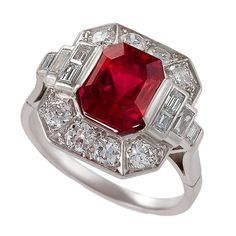spinel cabochon red ring - Google Search