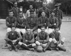 British football team of the Third Army Trench Mortar School, 20 May 1917
