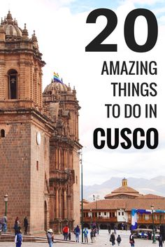 20 things to do in Cusco, the Capital of the Incas A list of 20 absolutly beautiful things to do in Cusco, Peru. Once the capital of the Inca Empire, it is now a major tourist attraction in Peru. Machu Picchu, Cusco Peru, Ecuador, Titicaca, Peru Travel, Argentina Travel, Peru Tourism, Hawaii Travel, Italy Travel