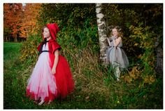 Items similar to Red Riding Hood Costume with Wolf, Red Riding Hood Cape for Girls, Into the Woods Costume, Girls red Cape Halloween Costume Red Black Grey on Etsy Red Riding Hood Costume, Black Ribbon, Costume Dress, Girl Costumes, Halloween Costumes For Kids, Handmade Clothes, Little Red, Girl Photos, Girls Sizes