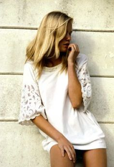 ♥ the shirt….but I'd wear it with Jeans!