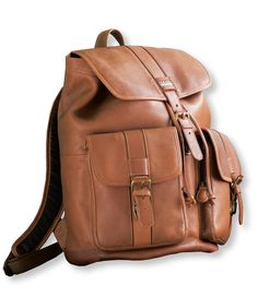 """Maine Guide Rucksack, Leather""       $249.00"
