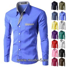 Langarm Business Herren Hemd versch Farben