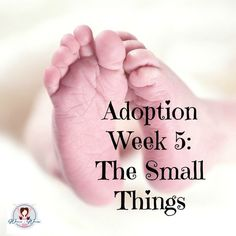 In life, it isn't always the big things that bring our hearts to tears. The small things matter. Adoption is a long process- and we need to hold on to each small thing along the way.