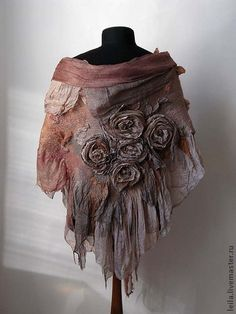 "felted shawl by abdullah laila ""Latte""2. Handmade."