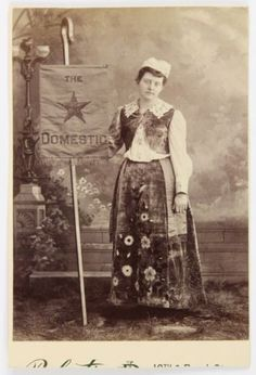 Banner-Lady-Woman-Advertising-034-The-Domestic-034-Cabinet-card-funny