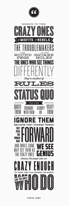 Great quote - Steve Jobs - Used to be a print but not anymore.