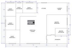 Open Plan, Floor Plans, Flooring, How To Plan, Open Floor Plans, Hardwood Floor, Floor Plan Drawing, Floor, House Floor Plans