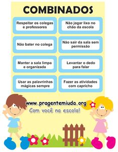 Activities for the Garden: COMBINADOS DA CLASSMA I gathered some models of posters with combinations of the class and illustrated models . Teaching Kids, Kids Playing, More Fun, Baby Gifts, Classroom, Activities, Education, School, Children