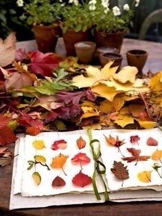 Making An Autumn Leaf Journal