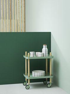 Mobile side table by Simon Legald – Normann Copenhagen | Basil Green Pencil