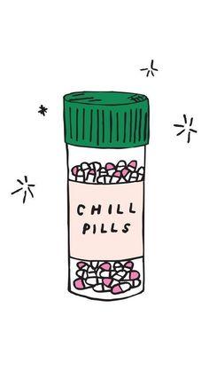 Chill Pills iPhone Wallpaper